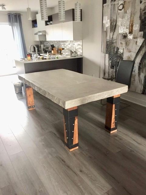 table de béton