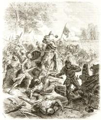 La bataille de Saint Aubin du Cormier, par Paul Lehugeur, XIXe siècle