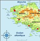Bretagne, carte