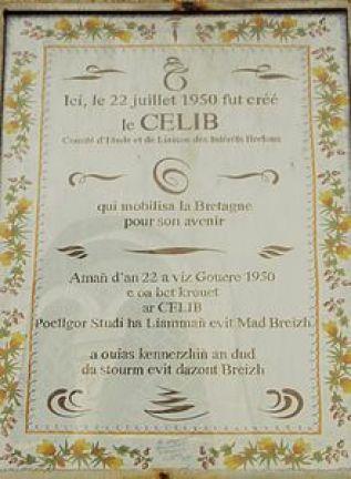 Plaque commémorative CELIB