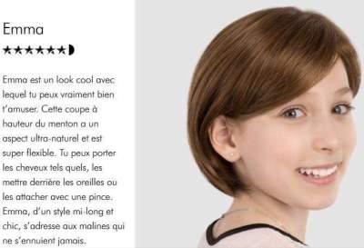 Perruque enfant Emma Brune