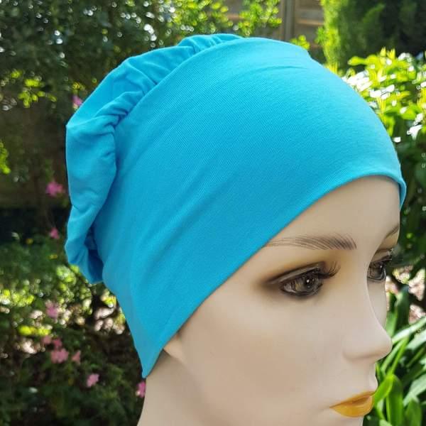 Breat BRE1 - Bonnet chimio - Turquoise - Centre du Cheveu Joceli.