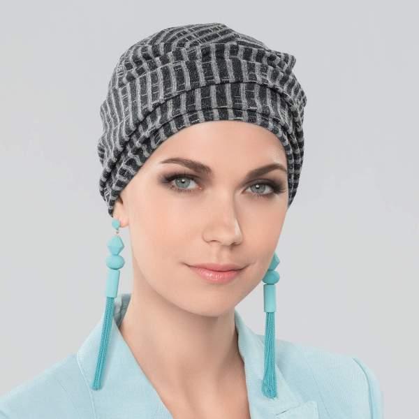 Avani - Bonnet chimio Joceli de la collection Ellen's Headwear. Vue de face.
