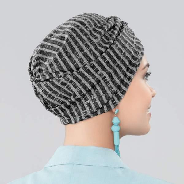 Avani - Bonnet chimio Joceli de la collection Ellen's Headwear. Vue de derrière.