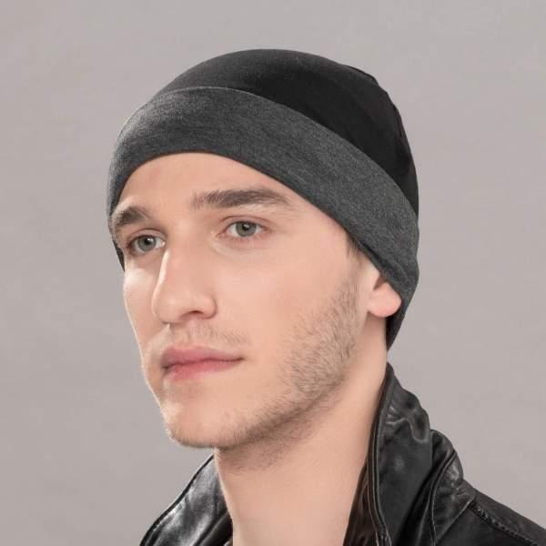 Go men - Bonnet chimio de la collection Ellen's Headwear.