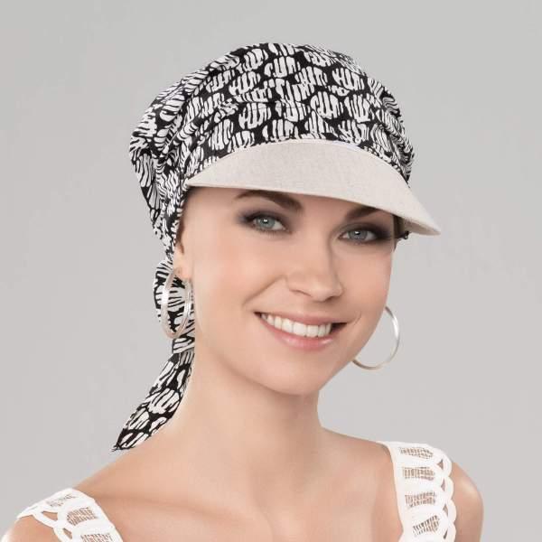 Lonata - Casquette bandana chimio de la collection Ellen's Headwear. Vu de face.