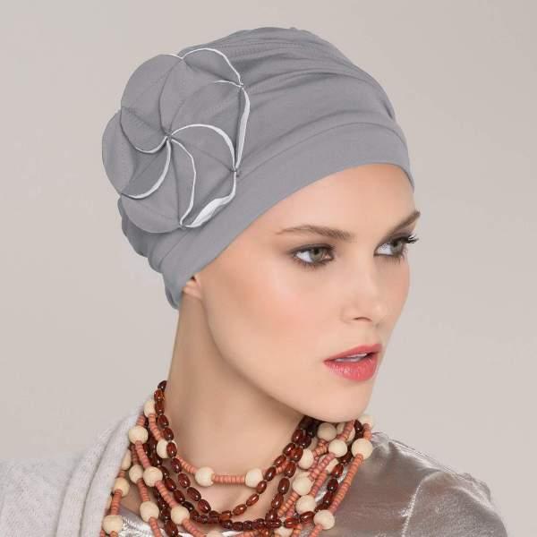Mora - Bonnet chimio Joceli de la collection Ellen's Headwear.