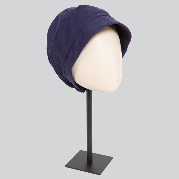 Tadea violet - Casquette bonnet chimio de la collection Ellen's Headwear.