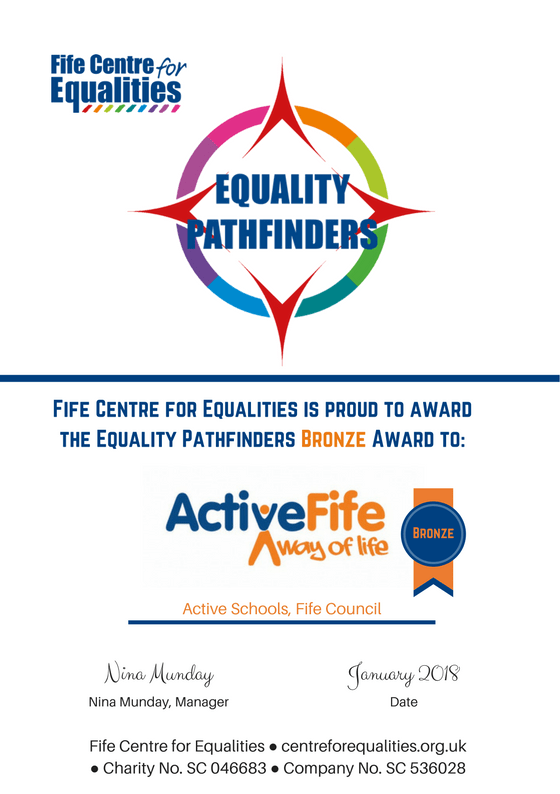 Equality Pathfinder Bronze Award: Active Schools, Fife Council