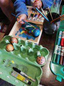 Gail Pitcaithly - Painting Easter Eggs