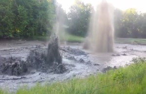 Churning pond at Indian Hills GC June 17-15. (Photo and Video Courtesy of Jamie Reitknecht Via Youtube)