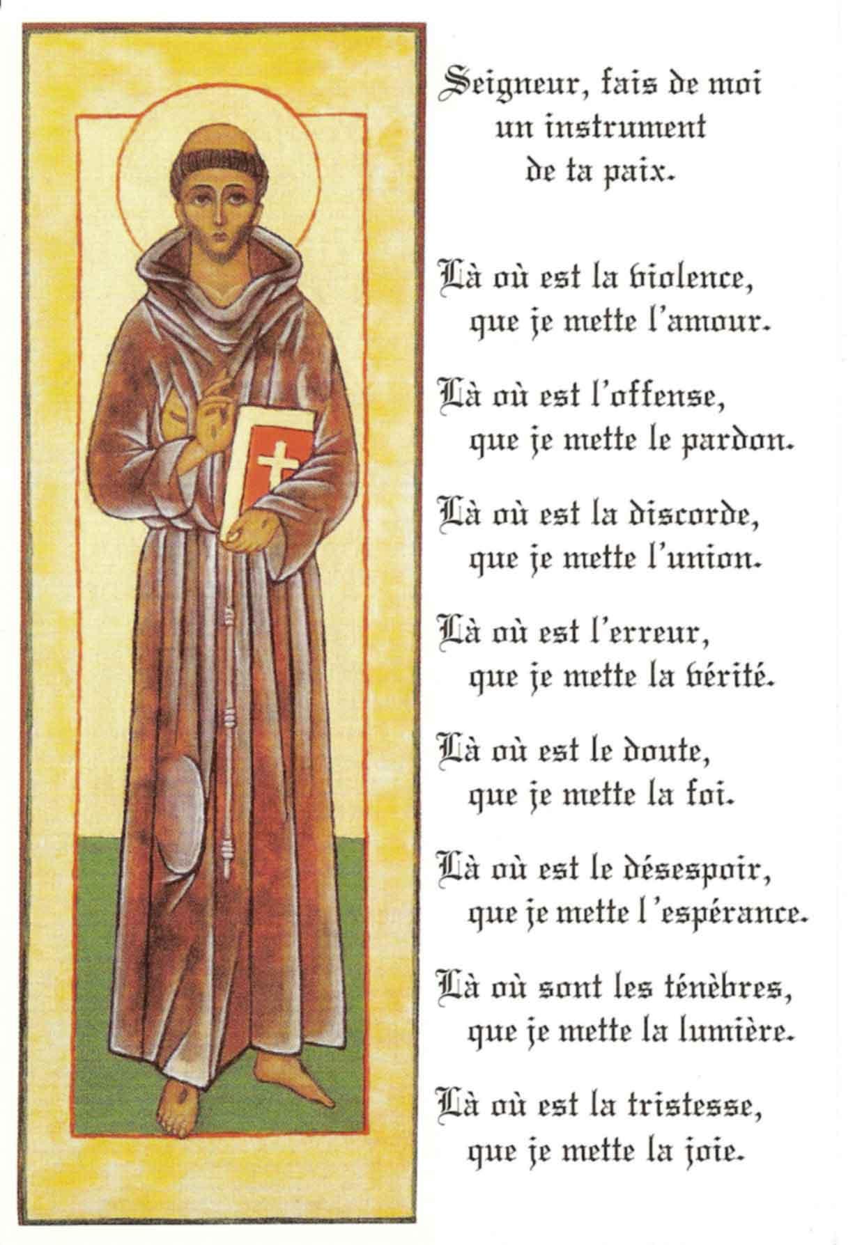 Seigneur Fais De Moi Un Instrument De Ta Paix : seigneur, instrument, Centre, Missionnaire, Sainte-Thérèse