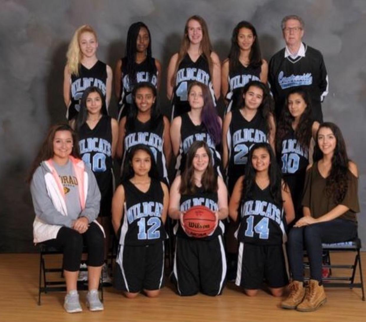 This is the girls freshmen basketball team.