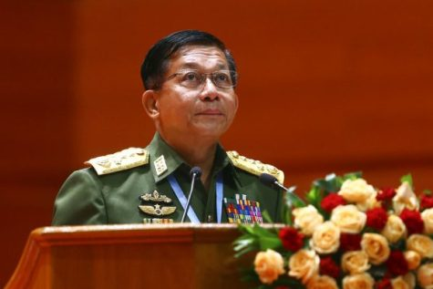 The leader of the Tatmadaw Gen. Min Aung Hlaing (Photo By: AP Photo/Aung Sine Oo)