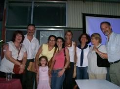 Alfredo con sus alumnos de marroquinería