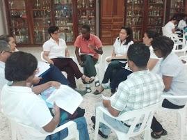 Los profes de Santo Domingo trabajando