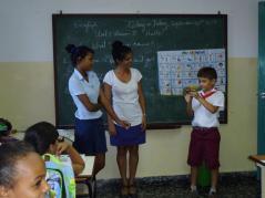 En un aula de Guanabacoa