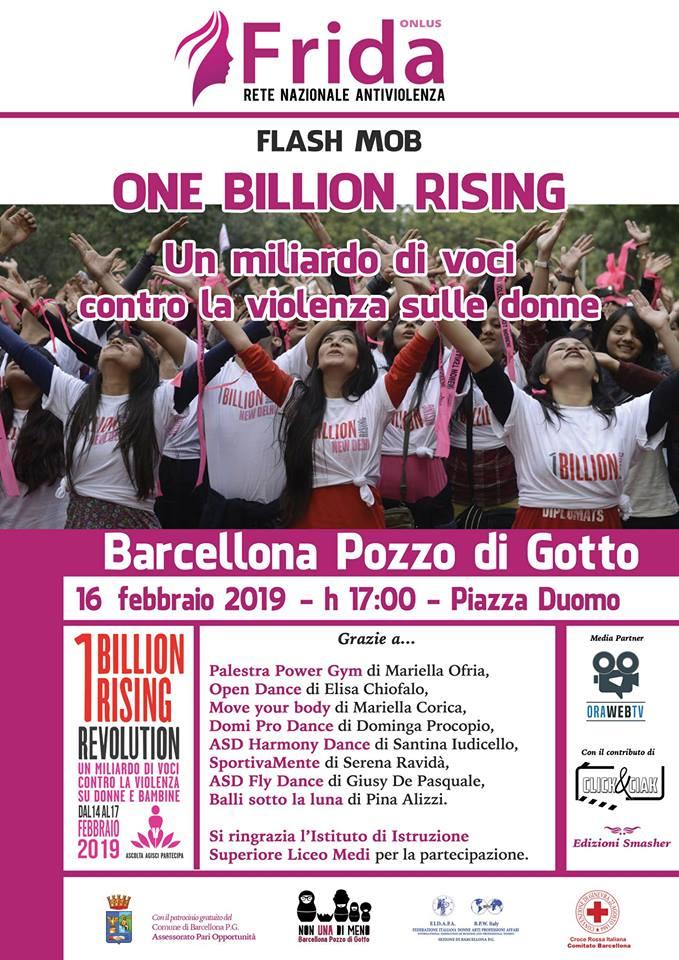 One Billion Rising anche a Barcellona Pozzo di Gotto