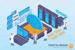 Scienziati che studiano il cervello