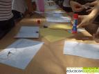 En pleno proceso de construcción del reloj solar