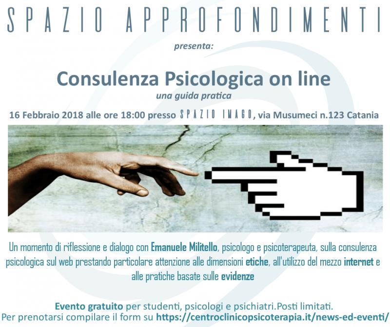 Spazio Approfondimenti – la consulenza psicologica on line