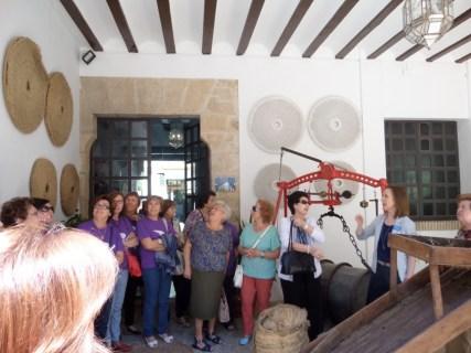 Explicación a un grupo en el museo