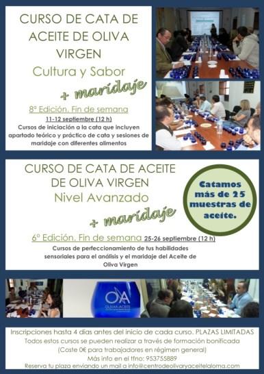Cartel Nuevos Cursos de Cata Fin de Semana Septiembre 2015