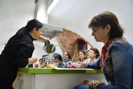 Asistentes l taller de cocina de Manuela Monsalve