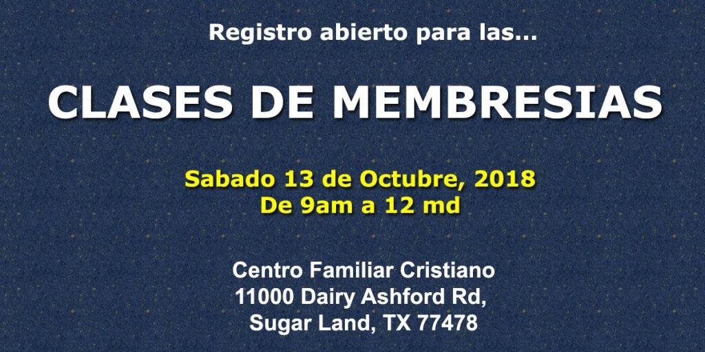 Clases de Membresia en el Centro Familiar Cristiano