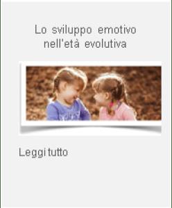 tasto articolo emozioni età evolutiva