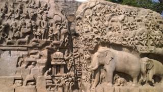 Rilievo con Arjuna, Mahabalipuran