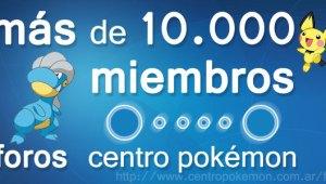 ¡Centro Pokémon llega a 10.000 miembros!