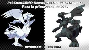 Revelados los Legendarios de Pokémon Edición Negra y Edición Blanca!