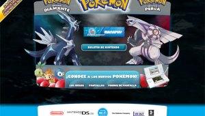 Abrio la Web Oficial de Pokémon Diamante y Perla en Español