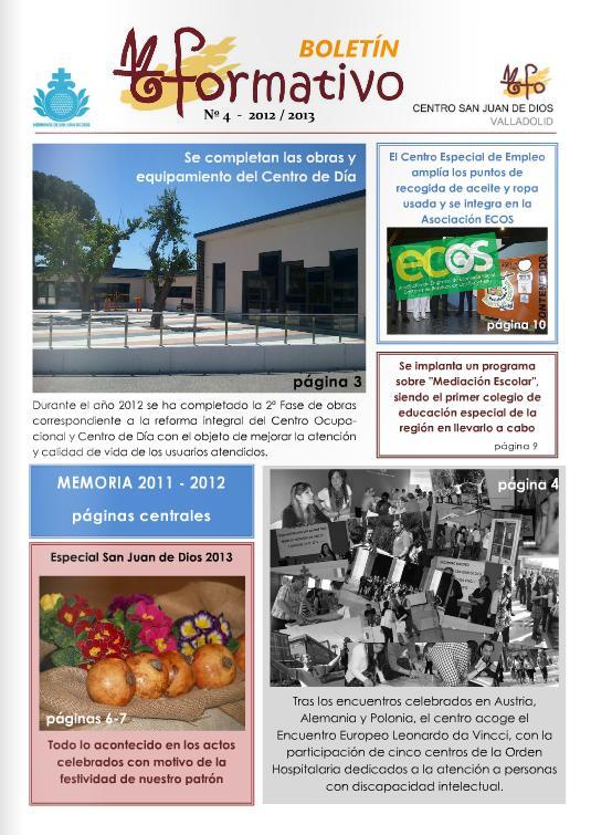 Boletín Yformativo 2013 Centro San Juan de Dios