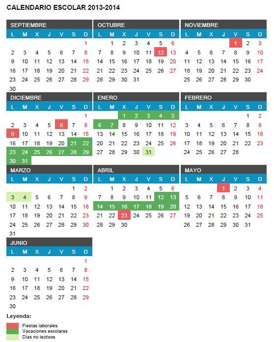 Calendario Escolar 2013_201