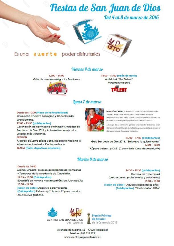 programa San Juan de Dios 2016
