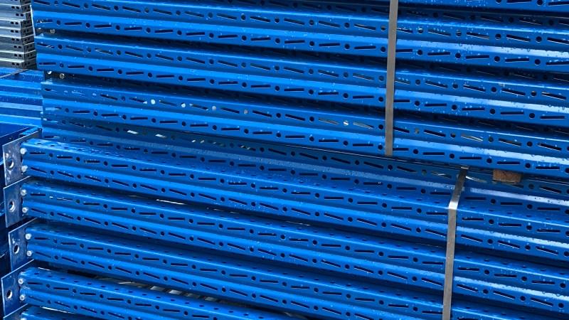 Scaffalatura porta palle per carichi pesanti; spalle sacma 3700×1000 sezione 100 da 22000kg con travi da 2700×140 portata 3900kg ad un prezzo eccezionale e tutto rigorosamente certificato