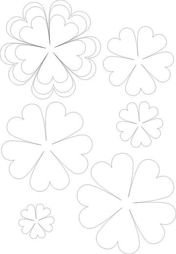 Cartulina Papel Hacer Para Flores Moldes De