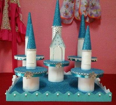Sencillos dulceros de frozen para fiesta infantil