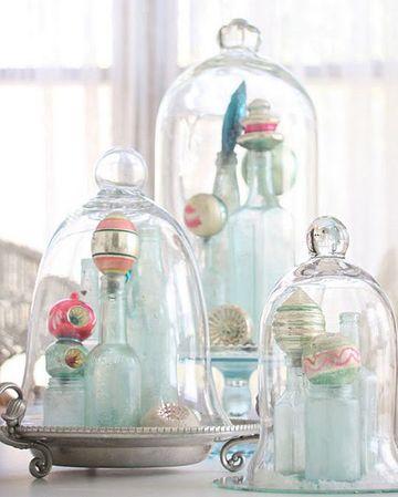 Elegantes adornos para mesa de comedor de vidrio