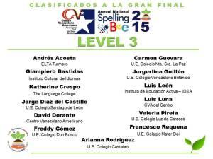 CLASIFICADOS SB2015_LEVEL 3