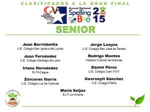 CLASIFICADOS SB2015_SENIOR