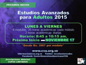 20151103 NUEVOS INICIOS ESTUDIOS AVANZADOS DIARIOS_NOVIEMBRE 17
