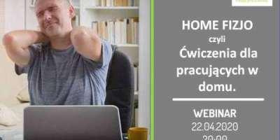 HOME OFFICE I HOME FIZJO czyli Trening dla pracujących zdalnie.