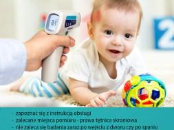 bezdotykowy termometr - temperatura dziecka