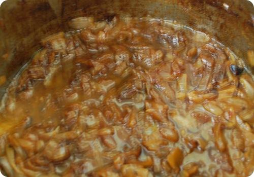 caramelized in pot