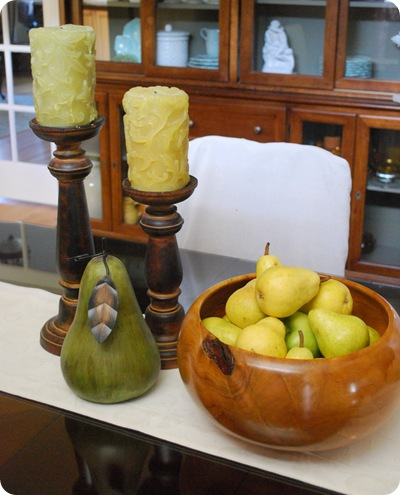 dining room pears