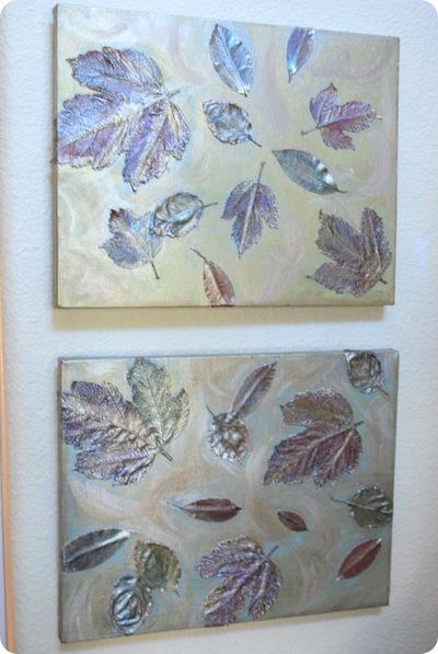 leaves wall art