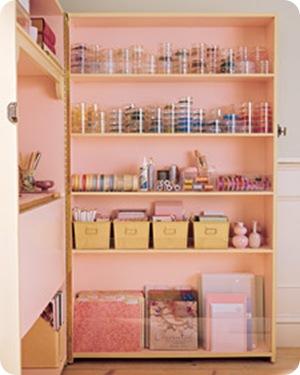 pink bookshelf martha stewart
